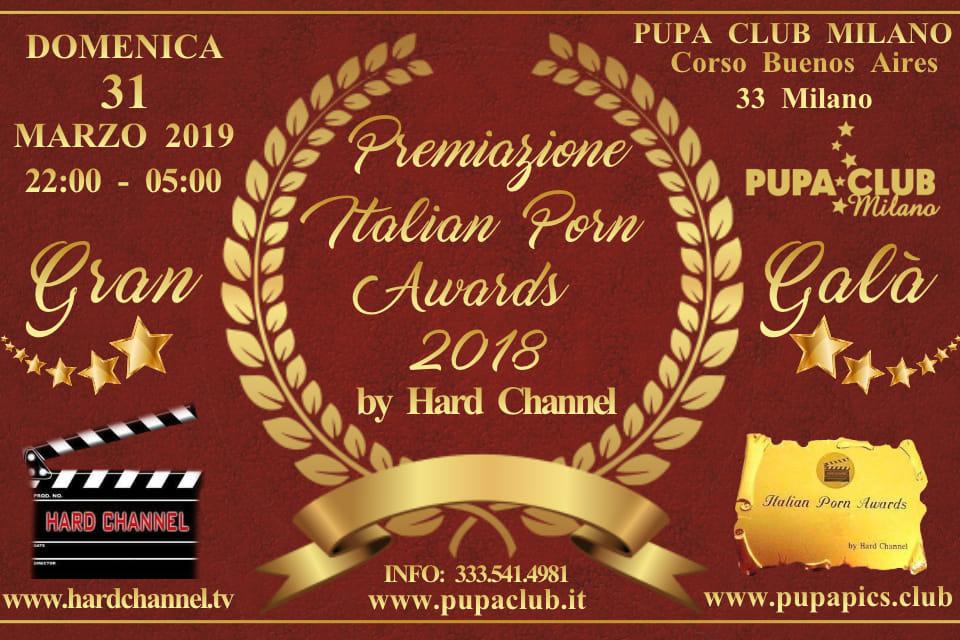 AWARDS 2018 1ma TAPPA del GALA' il 31 Marzo 2019 al PUPA di MILANO