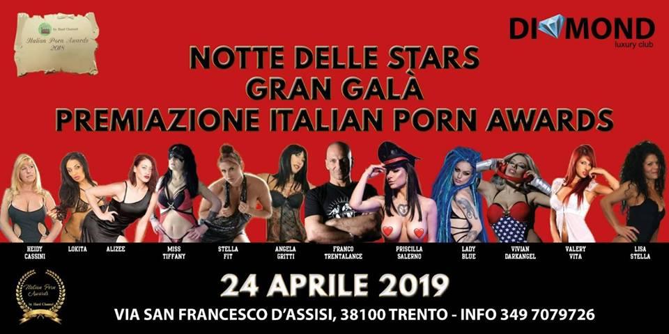 AWARDS 2018 2da TAPPA del GALA' il 24 APRILE 2019 al DIAMOND di TRENTO