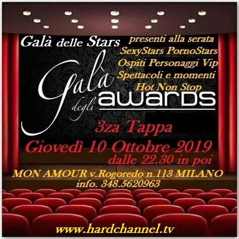 COMUNICATO STAMPA Terzo Galà degli Awards, le Stars sfileranno a Milano il 10 Ottobre 2019